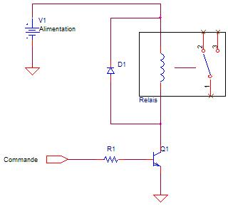 schema de commande relais base de transistor bipolaire schema electrique. Black Bedroom Furniture Sets. Home Design Ideas