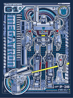 Acidfree Gallery - Megatron Transformers Variant Screen Print by Jesse Philips