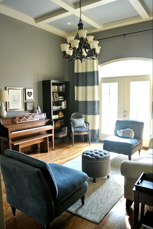 Library Sitting Room Ideas: Design Dump: Before + After: E-design Library/music Room