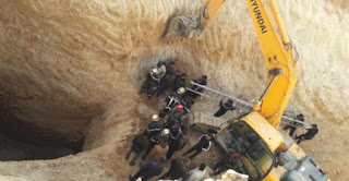 فشل محاولات انتشال جثة الشاب عياش محجوبي ضحية البئر  بمدينة المسيلة الجزائر والسلطات الجزائرية تعلن وفاته