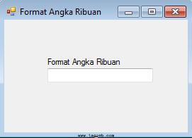 Cara Membuat Format Angka Ribuan dalam TextBox di VB.NET