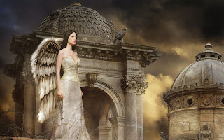 Animated angel women images