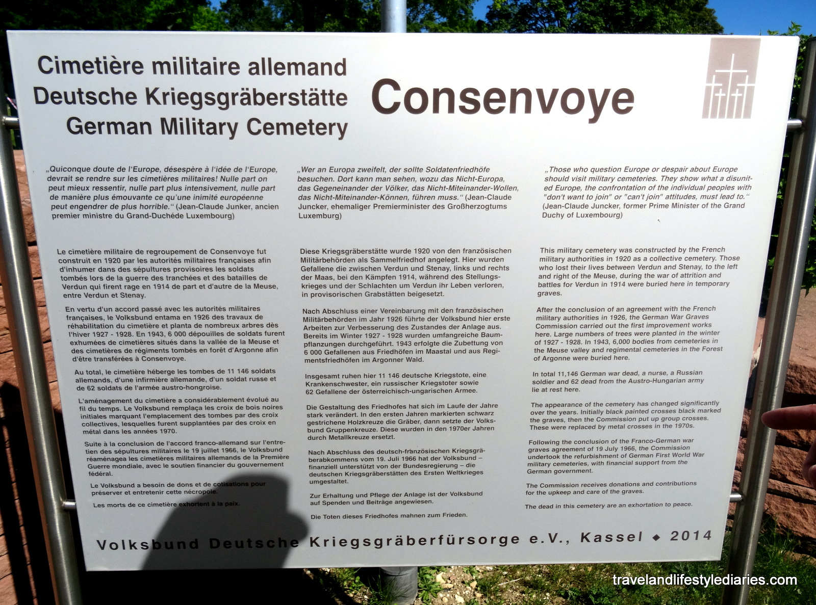 Consenvoye German War Military Cemetery In France Travel And