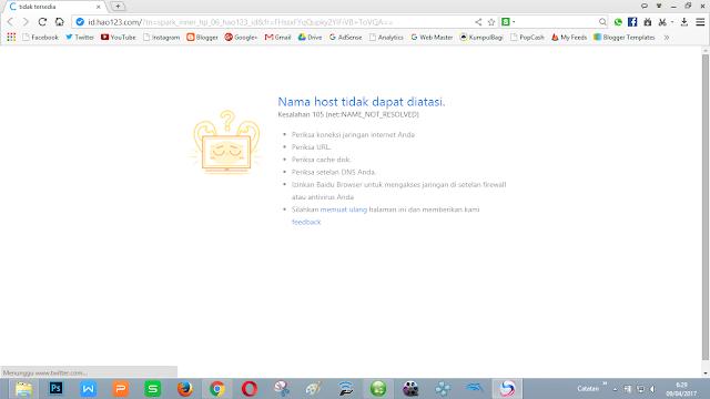tampilan browser cukup memukau