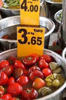 Italy, market, outdoor market, Italian, peppers