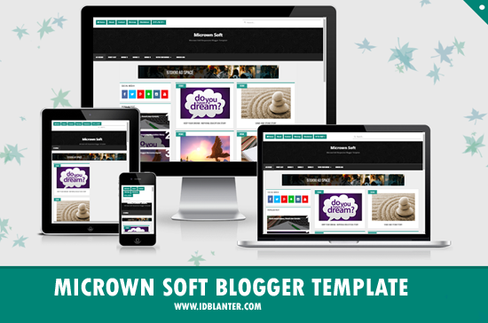 Micrown Soft Grid Responsive Blogger Template