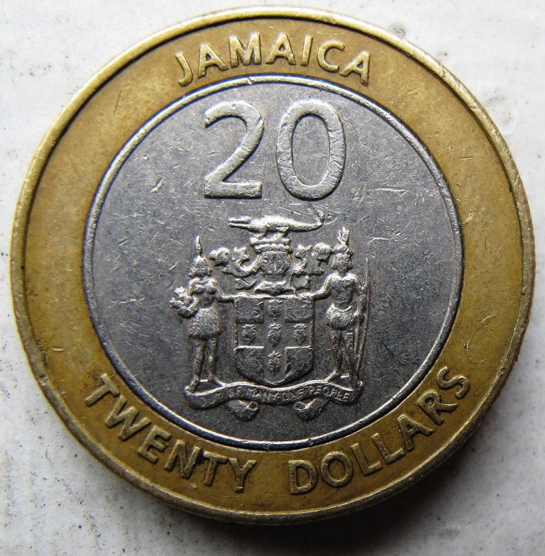 Jamaica 20 Twenty Dollars