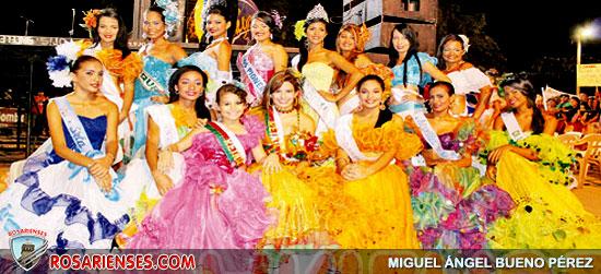 Candidatas se lucieron en El Maracaná | Rosarienses, Villa del Rosario