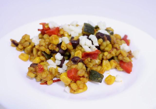 Kasza pęczak z warzywami po meksykańsku