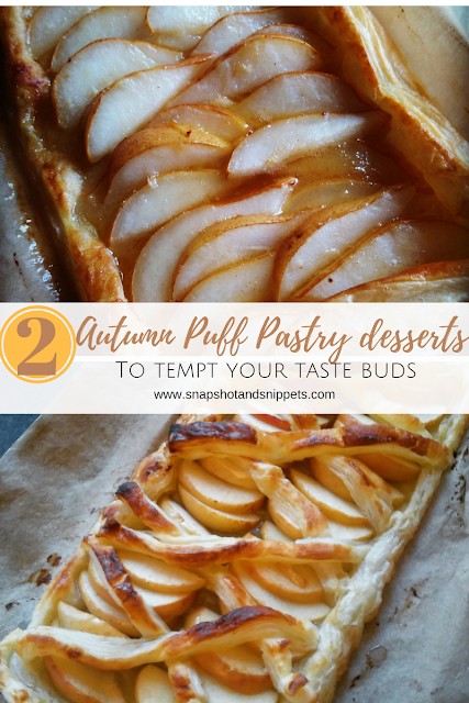 two autumn puff pastry desserts