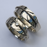 White gold wedding rings ZhaawanArt trouwringen