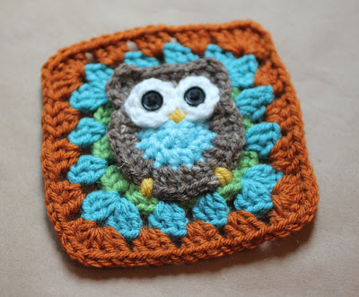 Owl Granny Square from Repeat Crafter Me