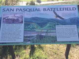 San Pasqual Battlefield placard