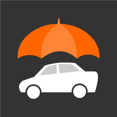 Vector Icons Download: Car Insurance Icon or Vehicle ...