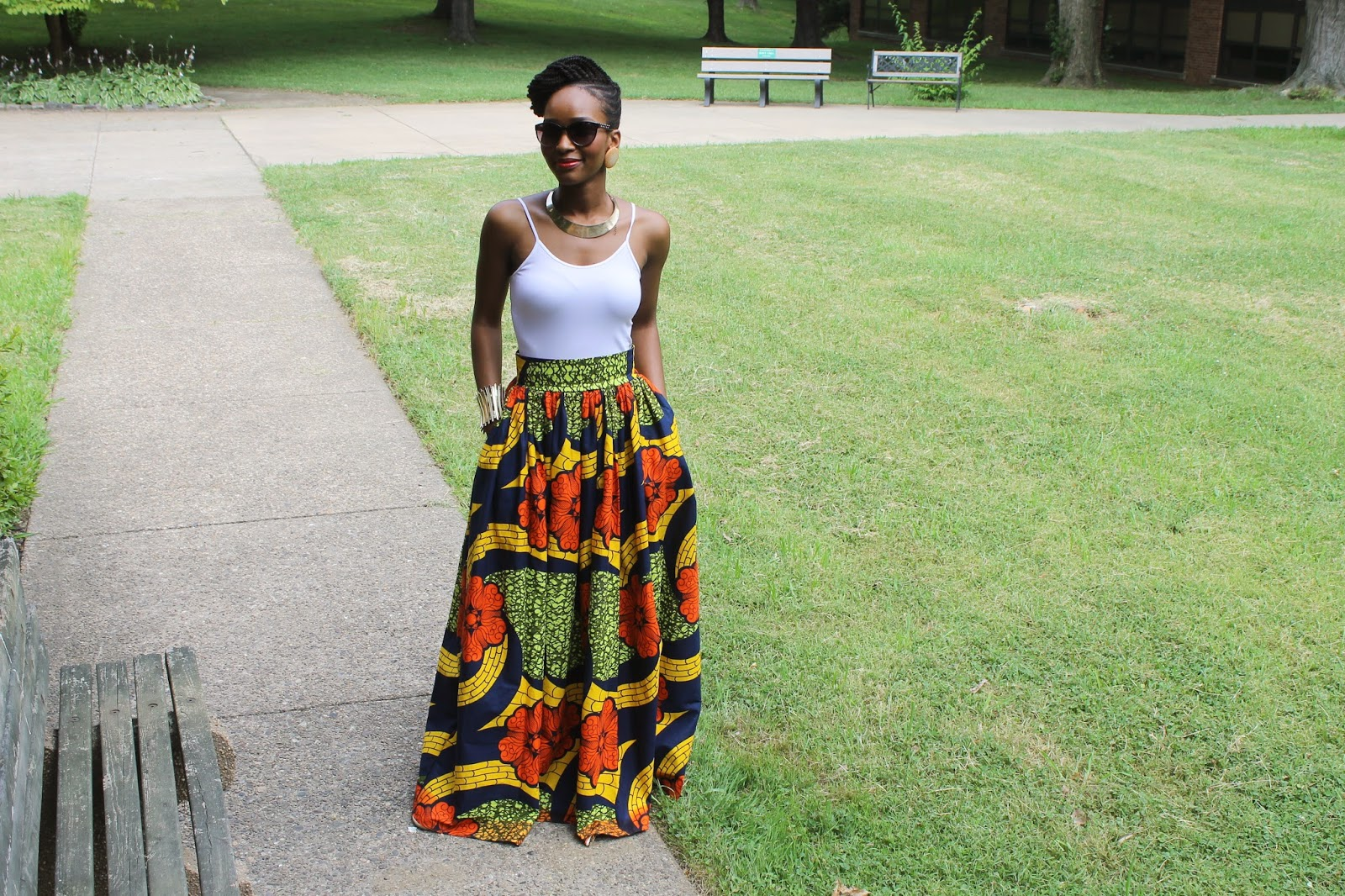 My Style Oasis, Floral Maxi Skirt