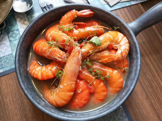 Herbal Drunken Tiger Prawns