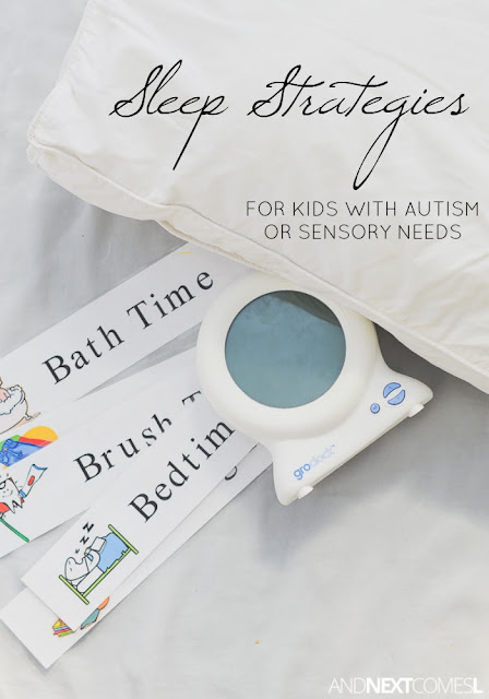 Sleep strategies for kids with autism or sensory processing disorder from And Next Comes L