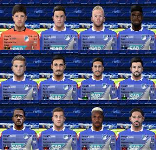 PES 6 Facepack TSG 1899 Hoffenheim 2018/2019 by Cuervo96