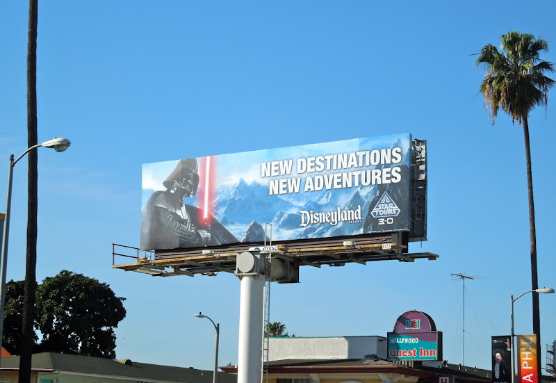 Star Tours Disneyland billboard