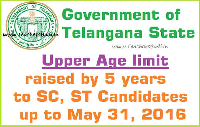 Upper age limit,5 years,SC,ST Candidates