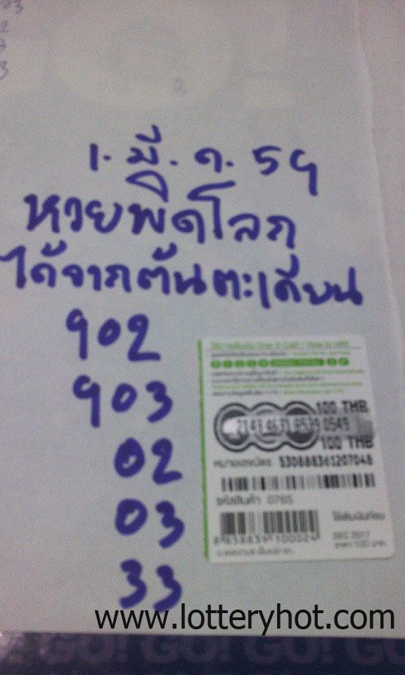 เลขเด็ด หวยพิดโลก ได้จากต้นตะเคียน งวด 1/3/59