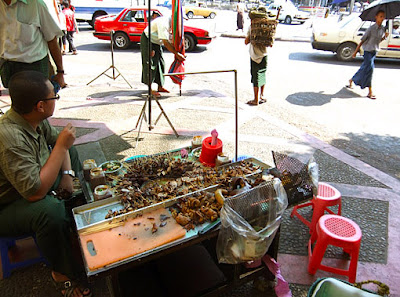 Myanmar street food in Yangon