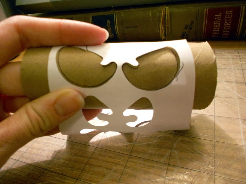 Make It Scrappin Spooky Glowing Eyes Halloween Day Craft