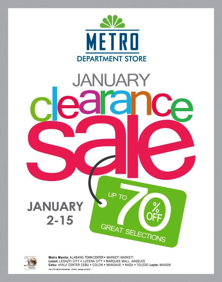 Manila Shopper Metro Stores Clearance Sale Jan 2013