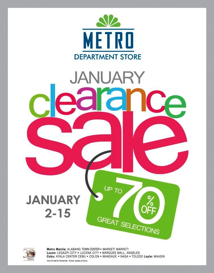 Manila Shopper Metro Stores Clearance Sale Jan 2013