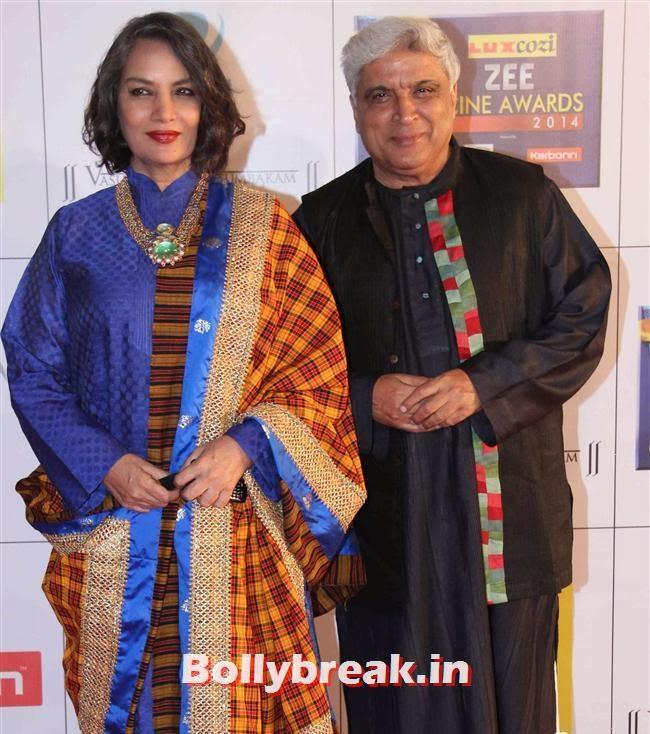 Shabana Azmi and Javed Akhtar, Zee Cine Awards 2014 Red Carpet Pics