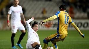 اشبيلية يسقط للمرة الاولي في الدوري الأوروبي من امام فريق ابويل بهدف وحيد