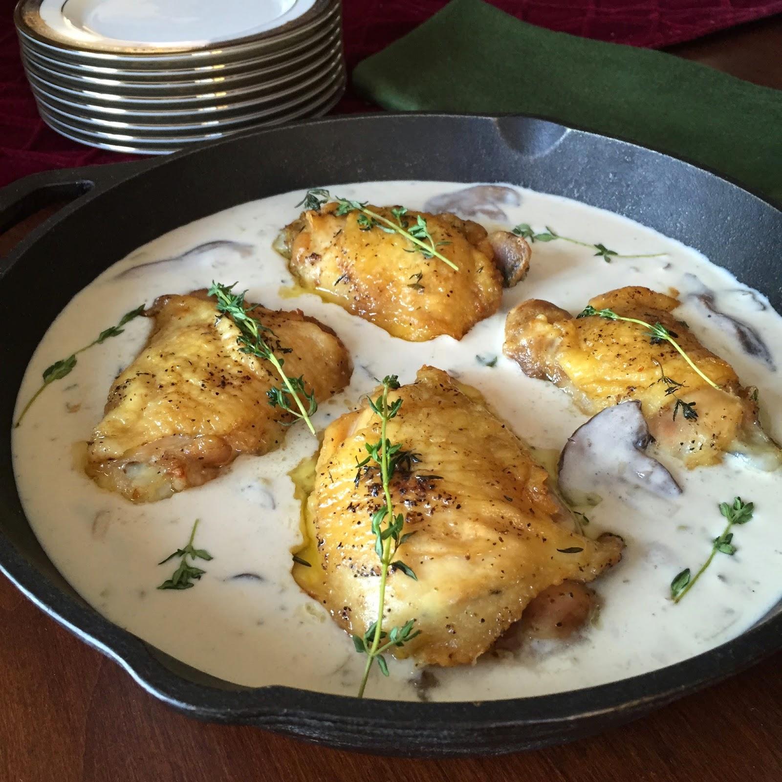 Food Impressions: Wild Mushroom Cream Sauce Over Chicken