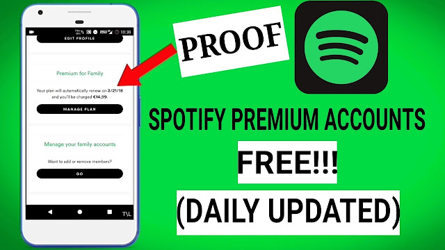 Spotify Premium Accounts List