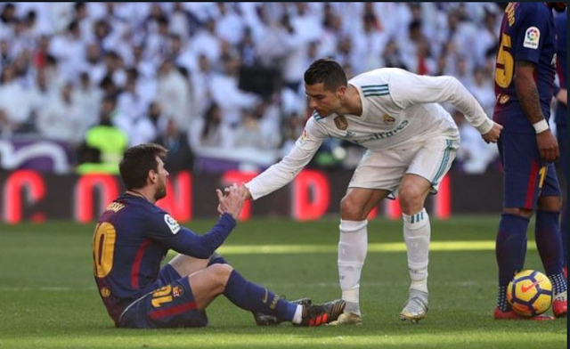 image of Ronaldo and Messi