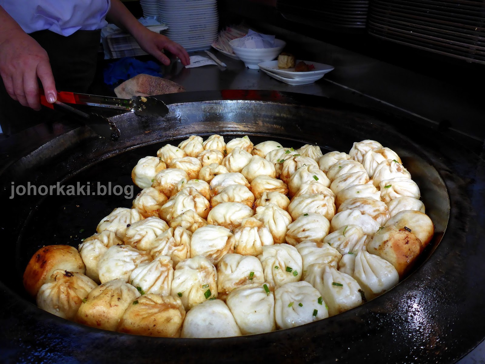 Best shanghai street food pan fried dumplings jk1540 for Cuisine kaki