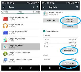 Google Play Store Terhenti