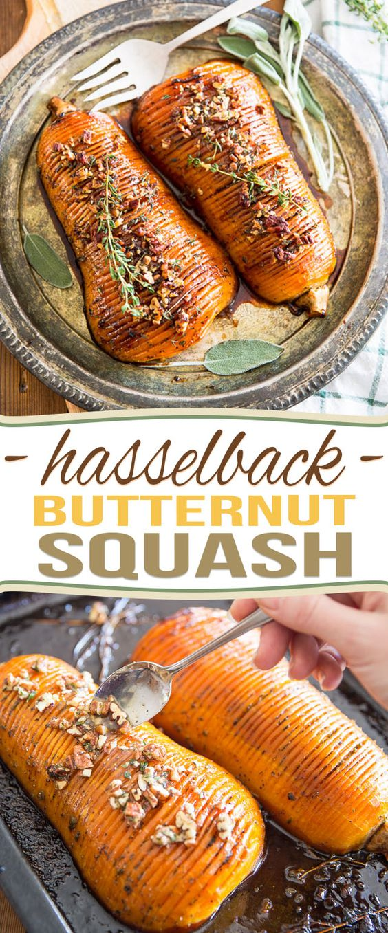 HONEY GLAZED HASSELBACK BUTTERNUT SQUASH