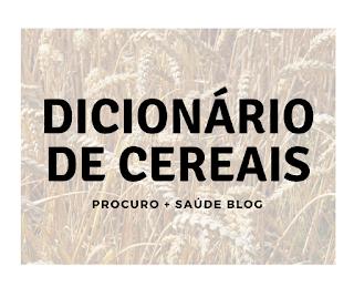 Dicionário de cereais