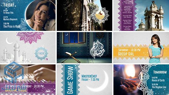 تحميل مجاني قوالب افتر افكت | VideoHive Broadcast Ident Package - Ramadan Special
