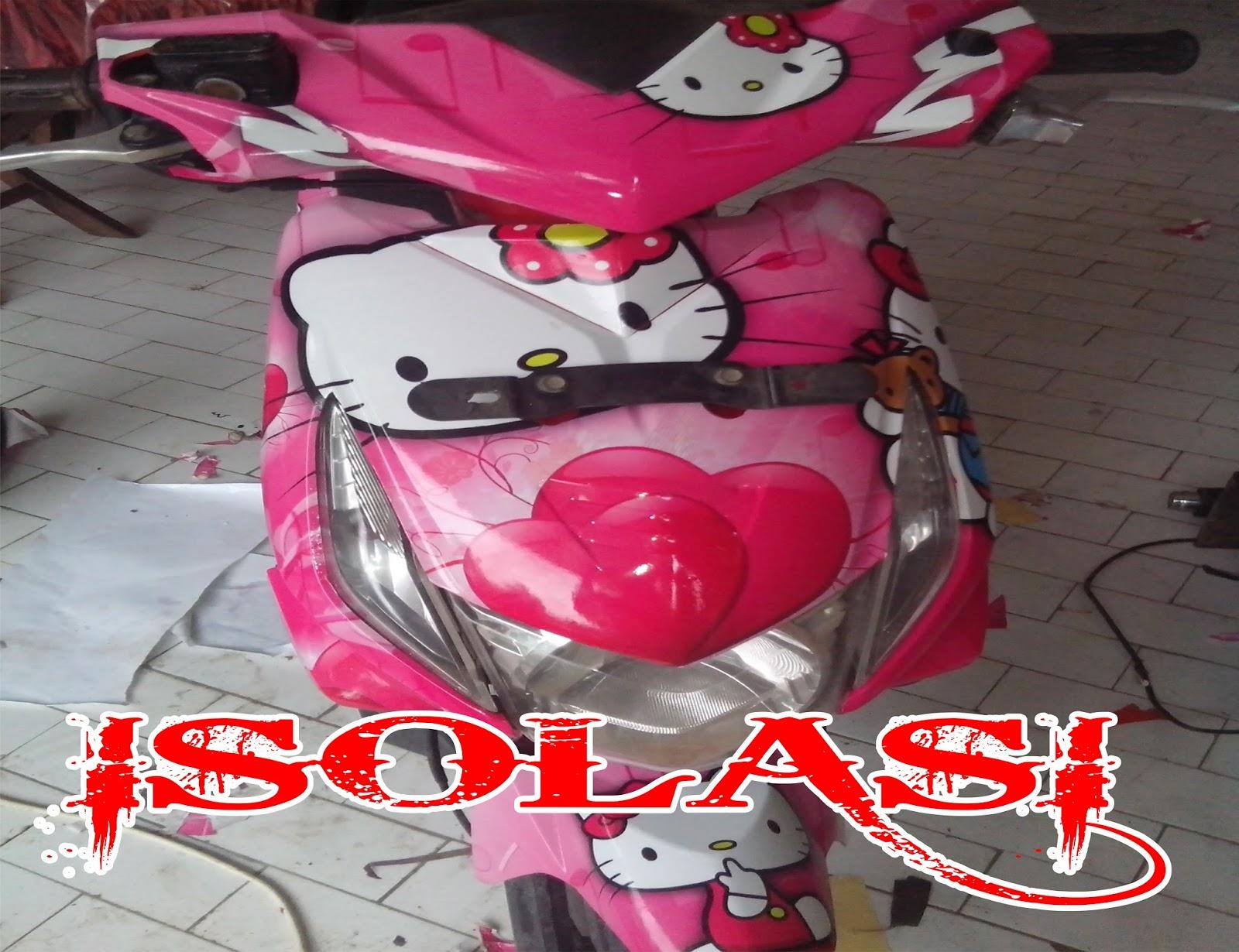 Gambar Cutting Sticker Motor Beat Pink Inomodifikasi