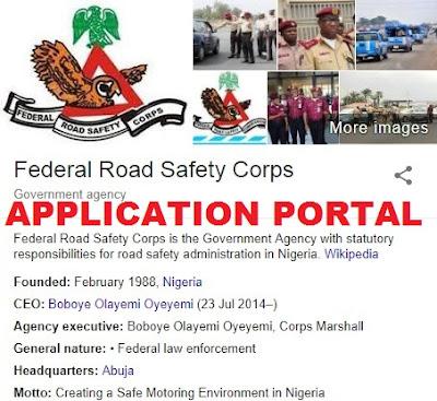 FRSC Recruitment 2018/2019 | Application Form Portal- Frsc.gov.ng | Application Guide