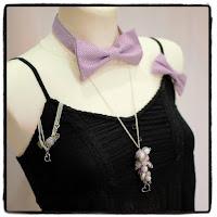 accessoires bijoux et couture couleur parme