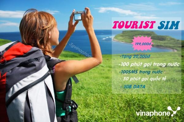 Tourist SIM của đơn vị Vinafone sử dụng với du khách ngoại quốc tham quan Việt Nam