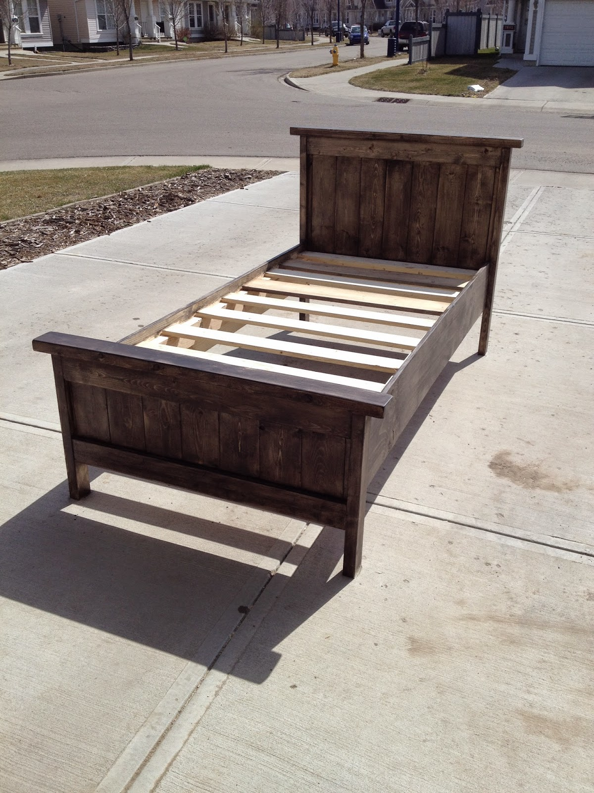 Two Crafty Girls Farmhouse Style Twin Bed, or as we call ...