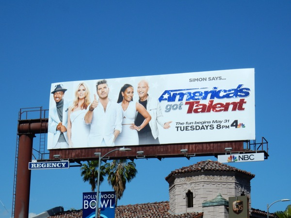 Americas Got Talent season 11 glittering billboard
