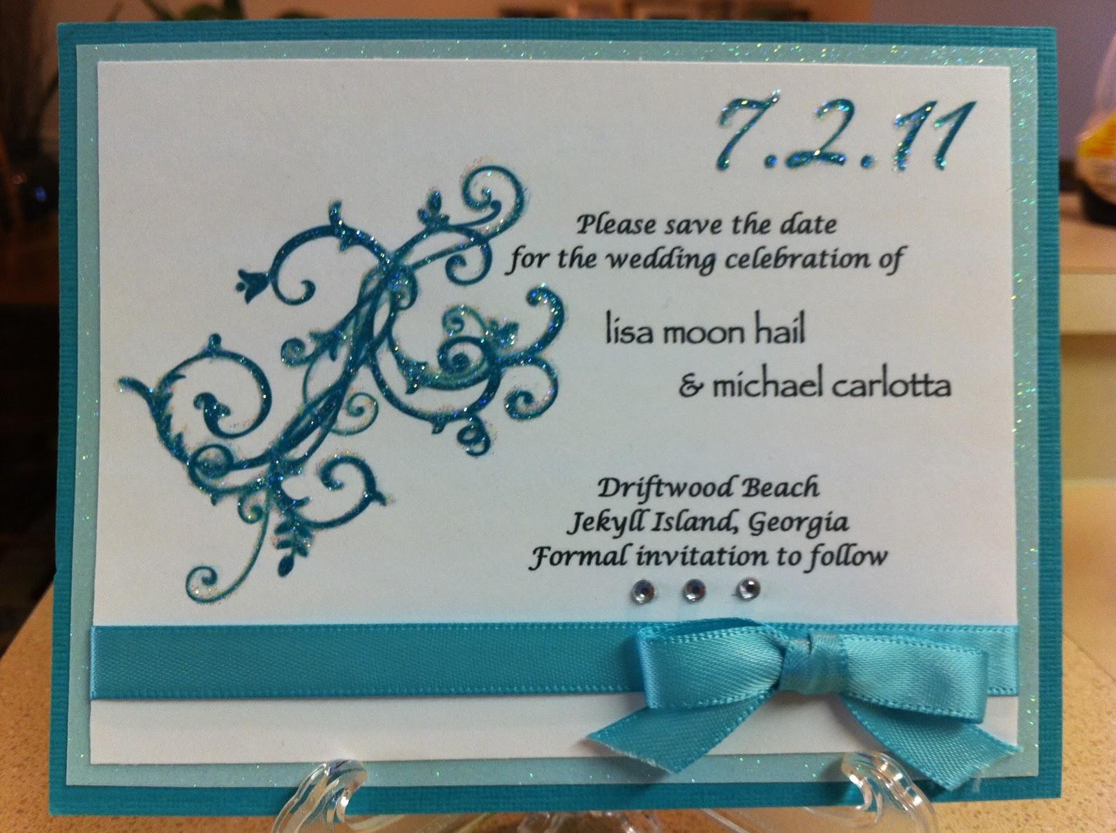 Stampin Up Wedding Invitations: Nadia's World: Wedding Invitations & Winner