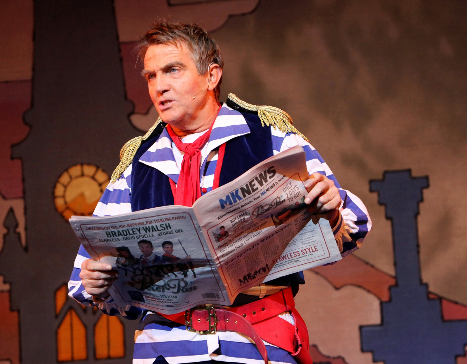 Bradley Walsh in Peter Pan at Milton Keynes Theatre