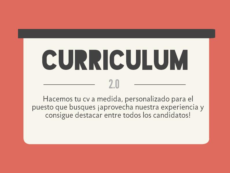 Curriculum Vitae personalizado - Marketing y publicidad