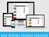 Download Template New Minima Colored Blue