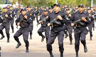 بعد المناداة على حراس الأمن أتى دور الضباط للالتحاق